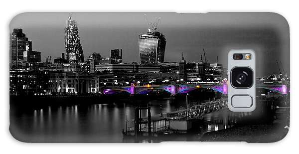 London Thames Bridges Bw Galaxy Case