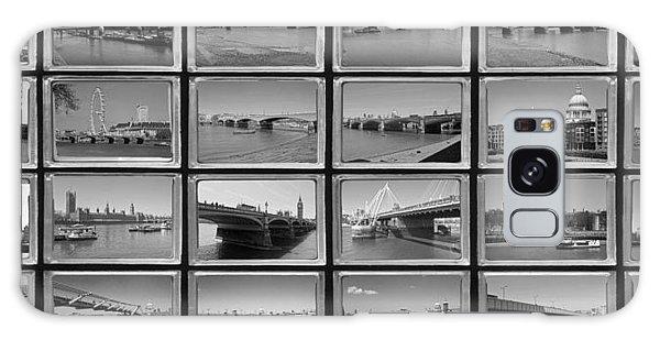 London Thames Bridges Galaxy Case by David French