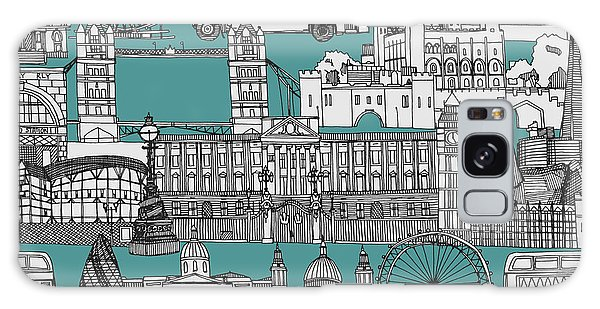London Toile Blue Galaxy Case