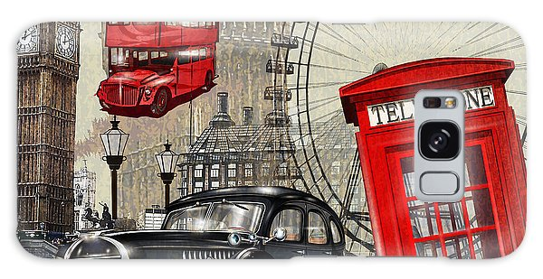 1950s Galaxy Case - London Vintage Poster by Axpop