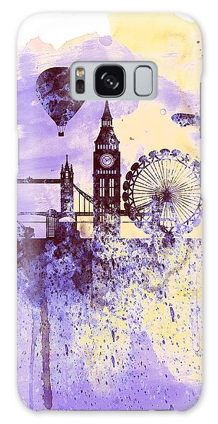 London Watercolor Skyline Galaxy Case