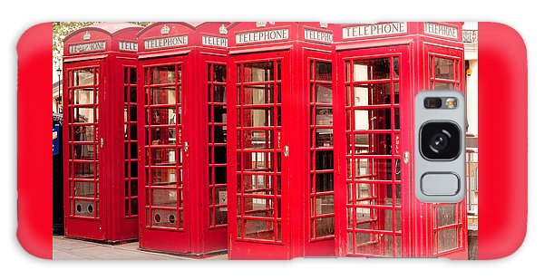 London's Red Phone Boxes Galaxy Case