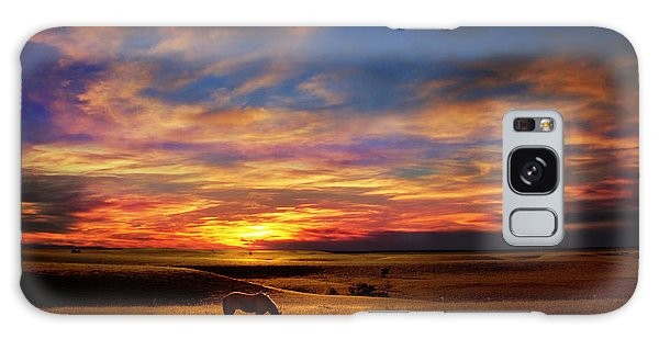 Lone Horse Greenwood County Galaxy Case by Rod Seel