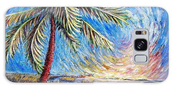 Lone Palm Galaxy Case by Sebastian Pierre