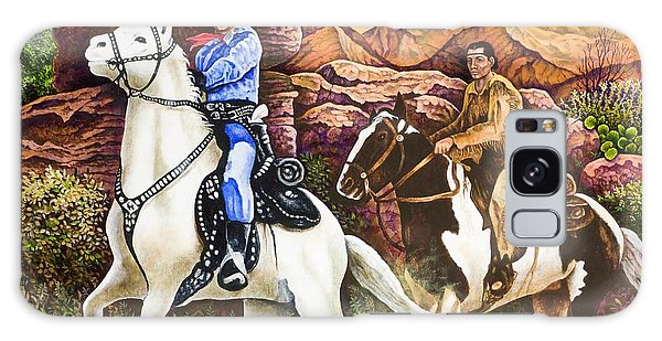 Lone Ranger And Tonto Ride Again Galaxy Case