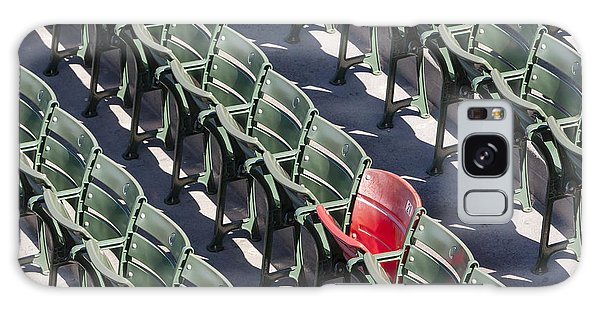 Galaxy Case featuring the photograph Lone Red Number 21 Fenway Park by Susan Candelario