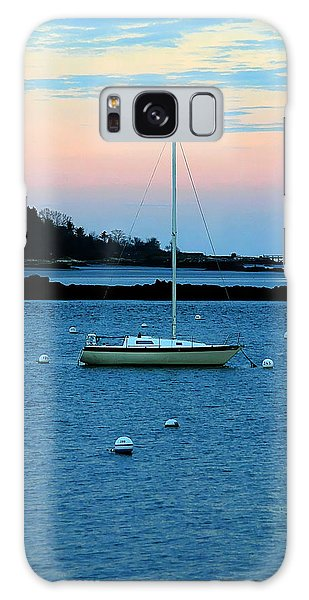 Lone Sailboat At York Maine Galaxy Case