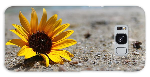 Lone Sunflower Galaxy Case by Alicia Knust