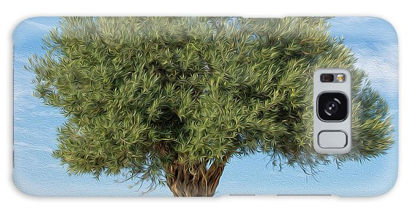 Olive Branch Galaxy Case - Lonely Olive Tree by Roy Pedersen