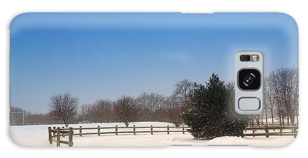 Lone Winter Evergreen  Galaxy Case