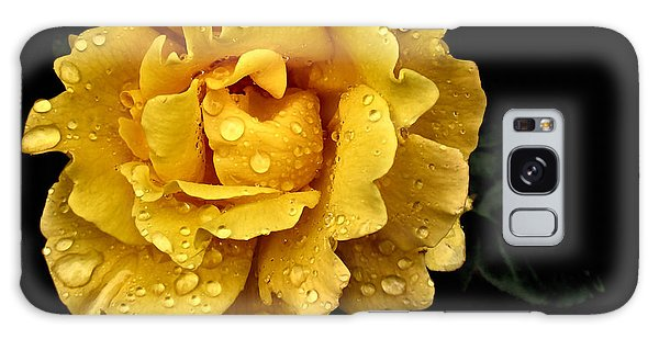 Lone Yellow Rose Galaxy Case