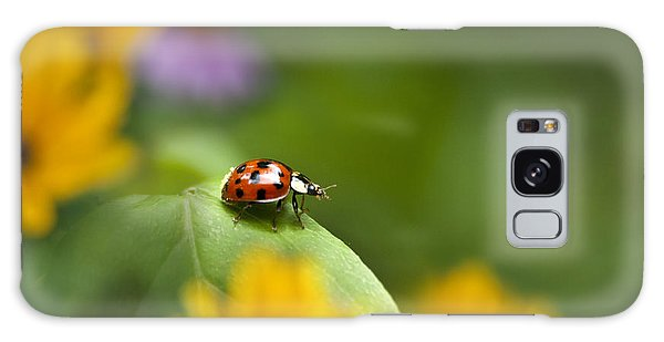 Galaxy Case featuring the photograph Lonely Ladybug by Christina Rollo