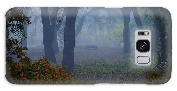 Lonely Park Bench In The Fog Galaxy Case