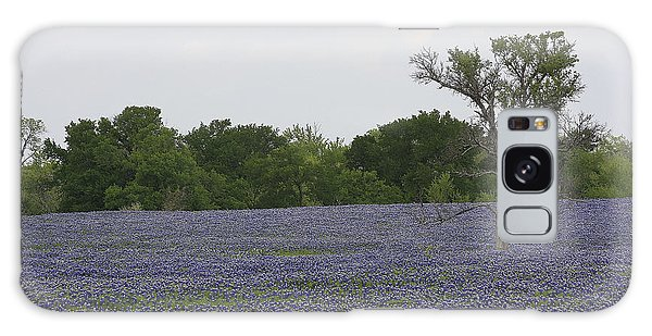 Lonely Tree In Bluebonnets Galaxy Case