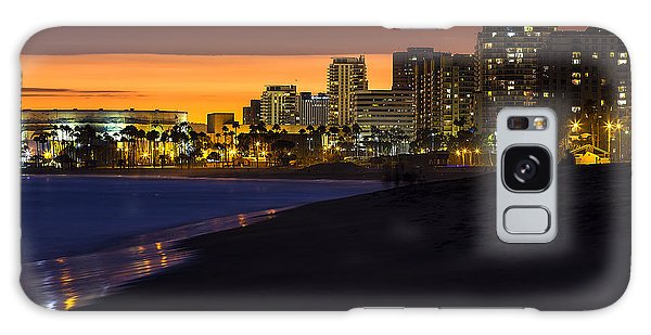 Long Beach Comes Alive At Dusk By Denise Dube Galaxy Case