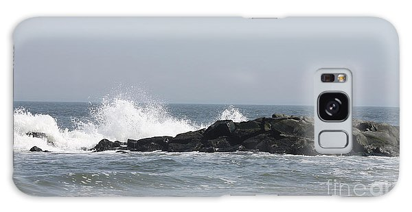 Long Beach Jetty Galaxy Case by John Telfer