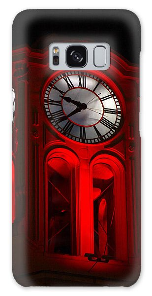 Long Beach Pine Ave. Clock Tower In Red Galaxy Case