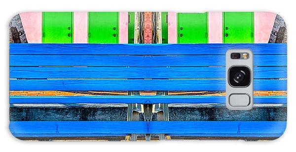 Long Blue Bench Galaxy Case