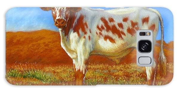Longhorn In The Australian Outback Galaxy Case by Margaret Stockdale