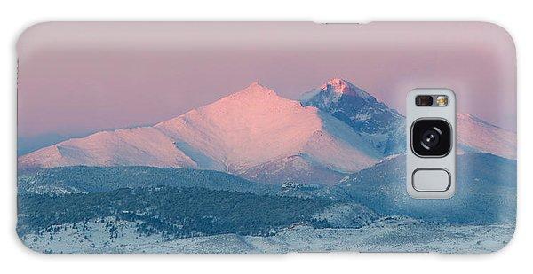 Longs Peak Alpenglow In Winter Galaxy Case