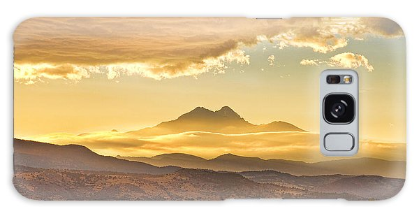 Longs Peak Autumn Sunset Galaxy Case