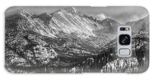 Longs Peak Rocky Mountain National Park Black And White Galaxy Case