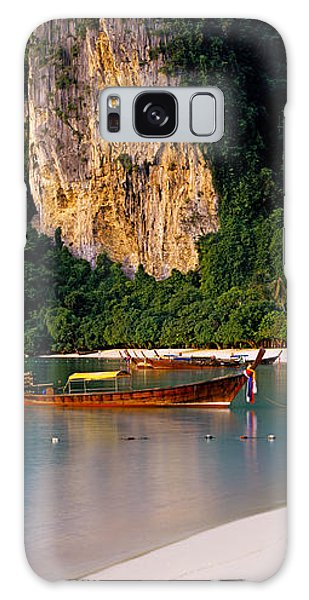 Phi Phi Island Galaxy Case - Longtail Boat In Ton Sai Bay, Phi Phi by Panoramic Images