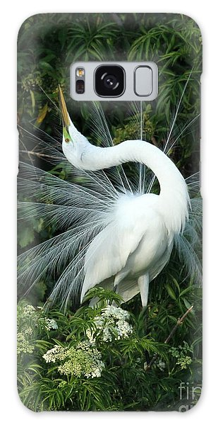 Egret Galaxy Case - Look At Me by Sabrina L Ryan