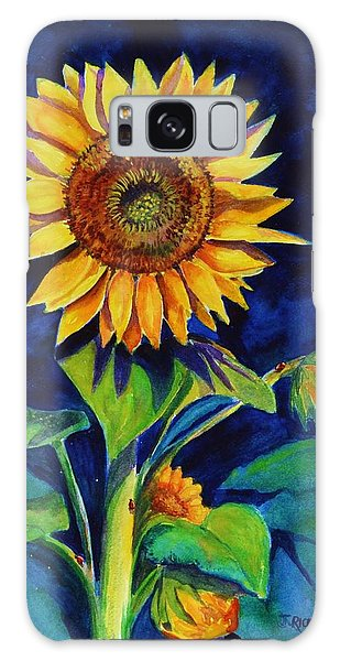 Midnight Sunflower Galaxy Case