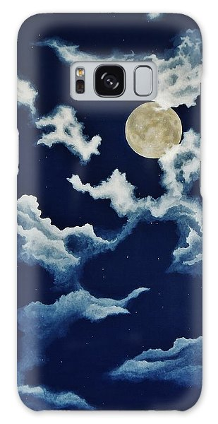 Look At The Moon Galaxy Case by Katherine Young-Beck