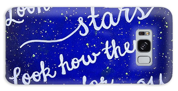 Look At The Stars Quote Painting Galaxy Case