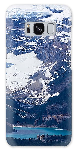 Looking Down At Lake Louise #2 Galaxy Case