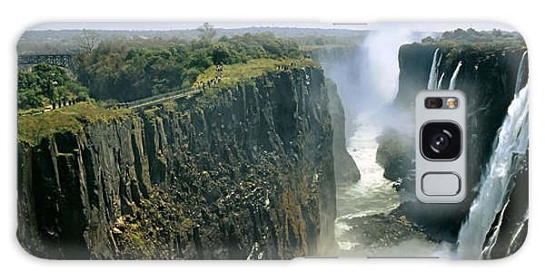 Looking Down The Victoria Falls Gorge Galaxy Case