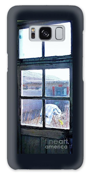 Looking Out The Kitchen Door In February Galaxy Case by Ethna Gillespie