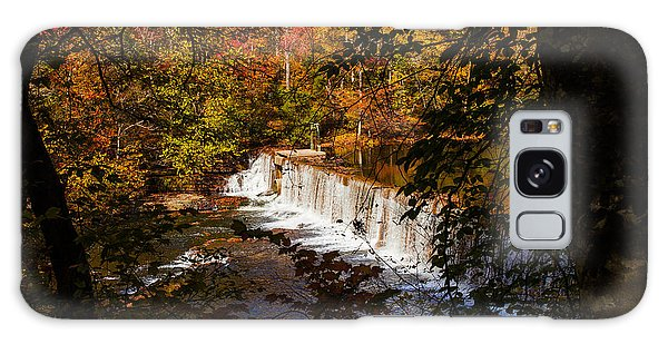 Looking Through Autumn Trees On To Waterfalls Fine Art Prints As Gift For The Holidays  Galaxy Case