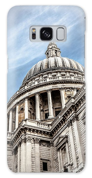 Looking Up At The Dome Of Saint Pauls Cathedral In London Galaxy Case