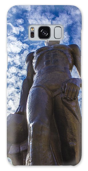 Looking Up At The Spartan Statue Galaxy Case by John McGraw