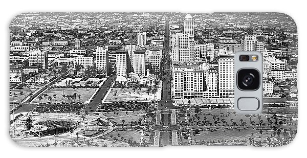 Flagler Galaxy Case - Looking Up Flagler Street At Downtown Miami by Underwood Archives