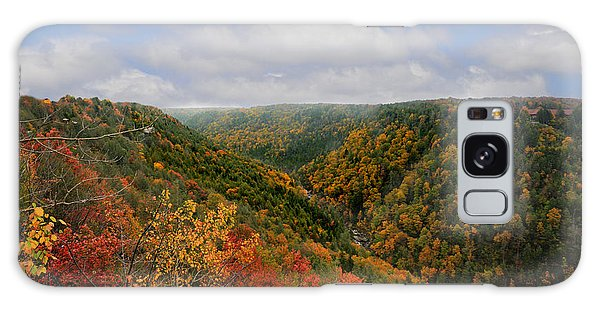 Looking Upriver At Blackwater River Gorge In Fall From Pendleton Point Galaxy Case