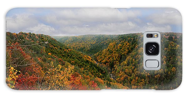 Galaxy Case featuring the photograph Looking Upriver At Blackwater River Gorge In Fall From Pendleton Point by Dan Friend