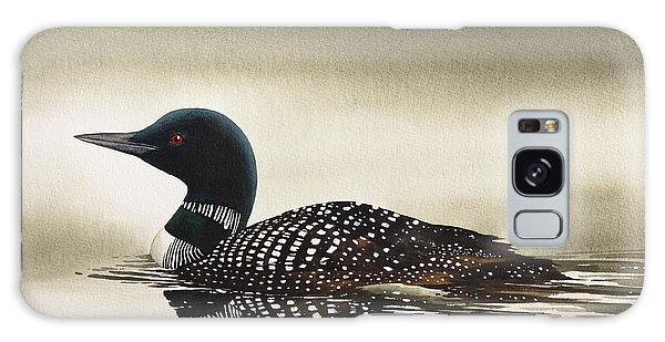 Loon In Still Waters Galaxy Case by James Williamson