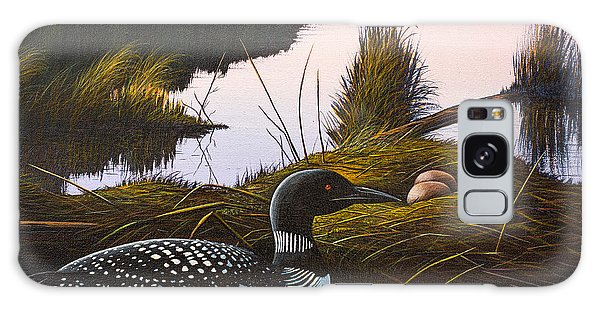 Loon Lake Galaxy Case by Richard Faulkner