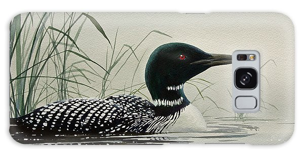 Loon Near The Shore Galaxy Case