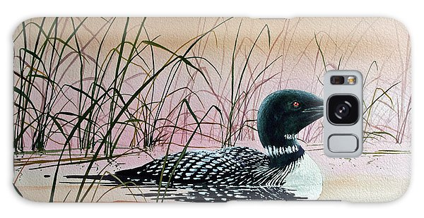 Loon Sunset Galaxy Case by James Williamson