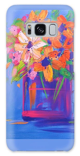 Loosey Goosey Flowers Galaxy Case by Terri Einer