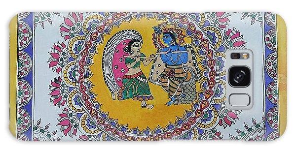 Madhubani Galaxy Case - Lord Krishna And Radha by Nisha Sharma
