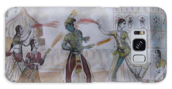 Lord Krishna Playing Holi Galaxy Case