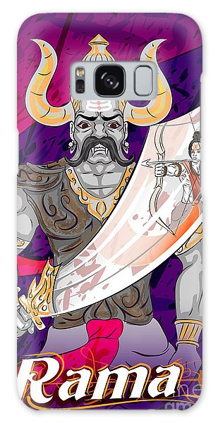 Spirituality Galaxy Case - Lord Rama With Demon Ravana In Happy by Vecton