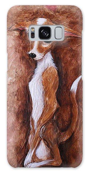 Loretta Chihuahua Big Eyes  Galaxy Case by Patricia Lintner