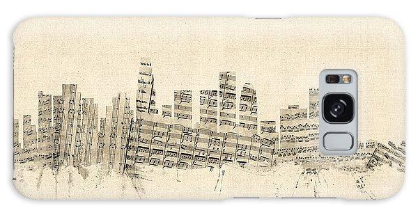 Los Angeles California Skyline Sheet Music Cityscape Galaxy S8 Case